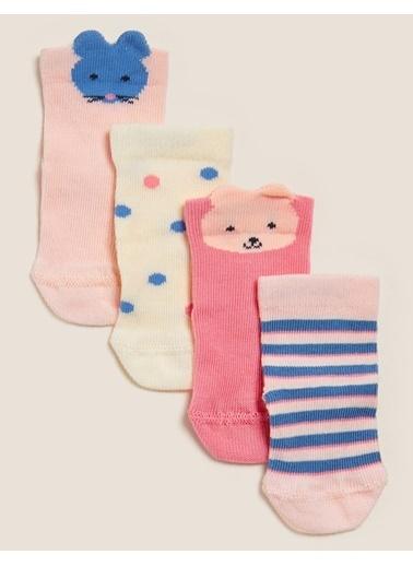 Marks & Spencer 4'lü Pamuklu Çorap Seti Renkli